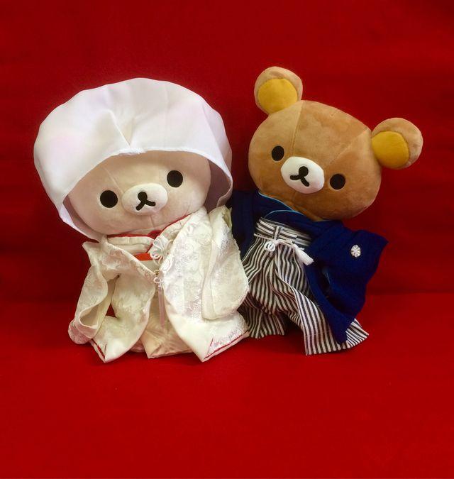 【satoshi様専用☆】白無垢☆リラックマのウェディングウェルカムドール☆   ハンドメイドマーケット minne