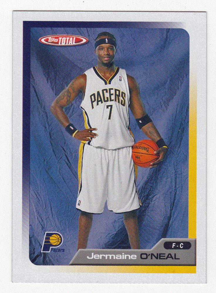 Jermaine O'Neal # 312 - 2005-06 Topps Total Basketball