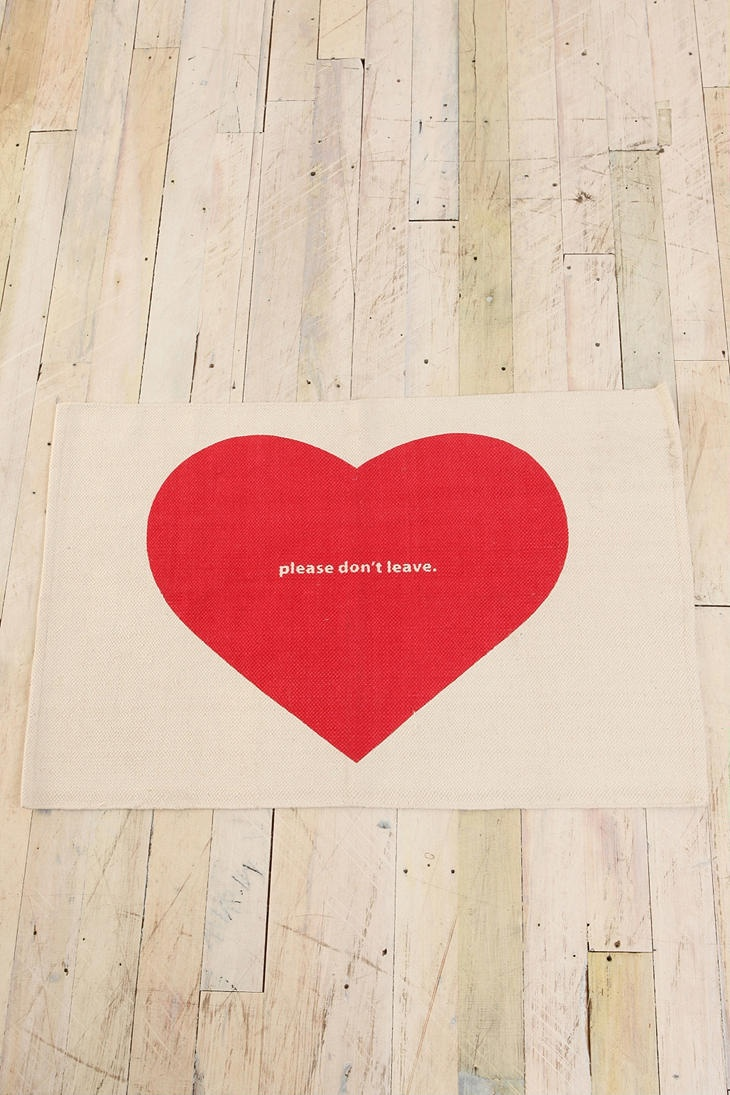 """Please don't leave"" doormat. :)"