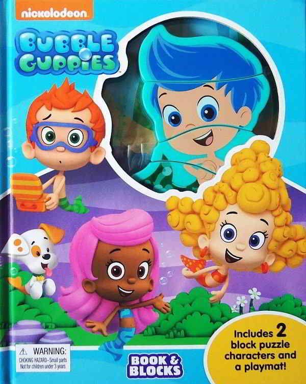 Bubble Guppies Book & Blocks includes 2 Block Puzzle Characters and a playmat, Di buku ini ada 2 character block puzzle (Gil and Molly). 1 block teridiri...