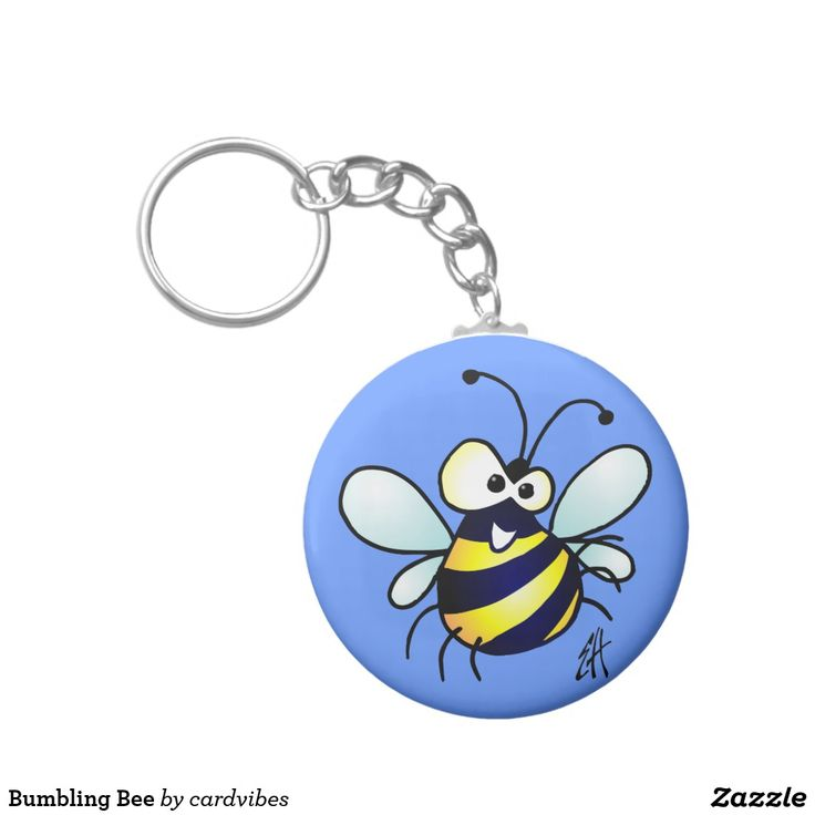 Bumbling Bee Keychain #bee #keychain #Zazzle #Cardvibes #Tekenaartje #SOLD