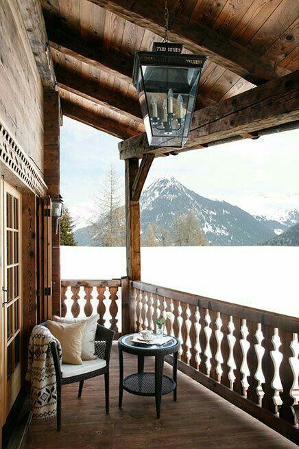 Porches nieve invierno