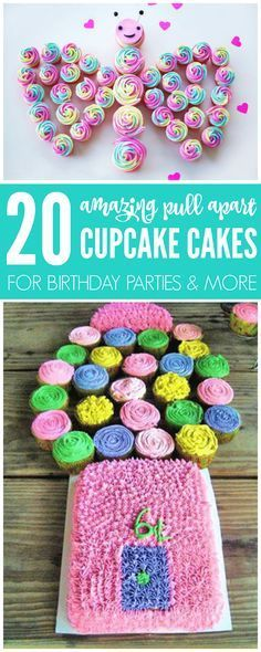 I am LOVING these Cupcake Cake Ideas that you can try today! There are 20 Amazing Pull Apart Cupcake Cake Recipes to try so check it out!