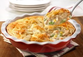 Our easy chicken pot pie recipe uses leftover chicken or turkey and cream of chicken soup to make the ultimate comfort food dish in just 30 minutes. #chickenfoodrecipes