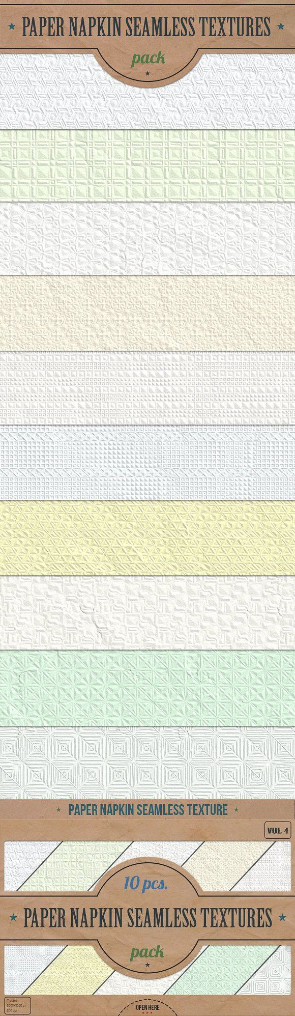 Napkin Seamless Textures Pack v.4. Textures