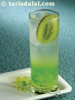 Kiwi Kooler ( Party Drinks ) recipe | Party Drink Recipes | by Tarla Dalal | Tarladalal.com | #33185