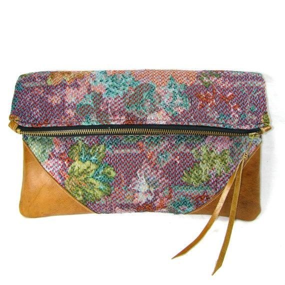 Floral Lilac Watercolor Clutch #FlowerShop