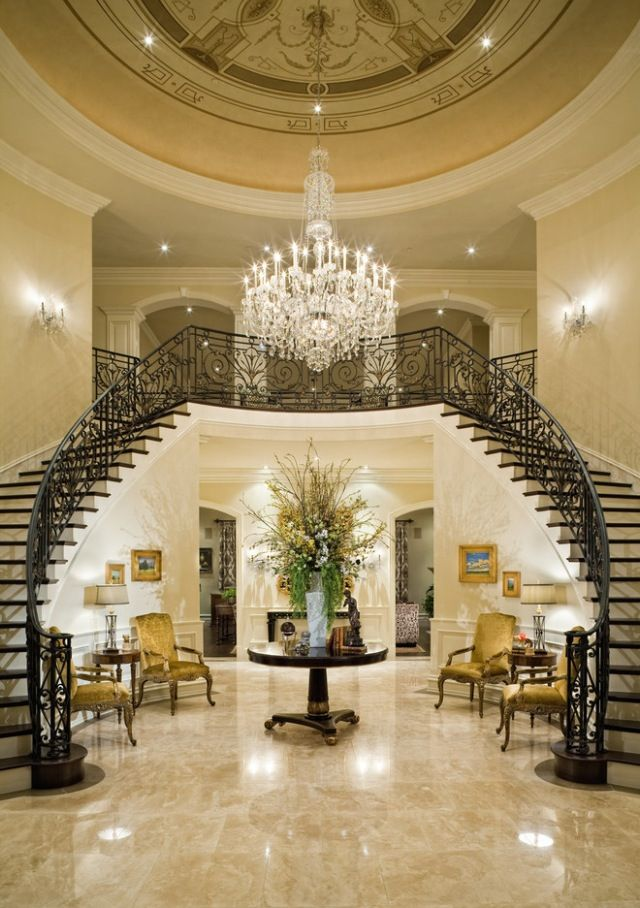 379 best images about elegant foyers stairs on pinterest ...