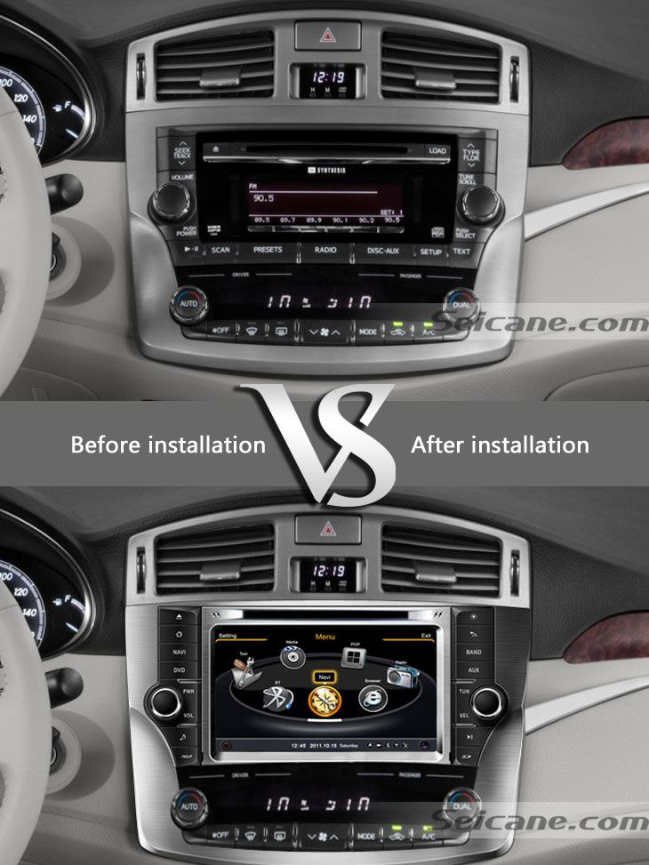 2012 Toyota Avalon car dvd player after installation