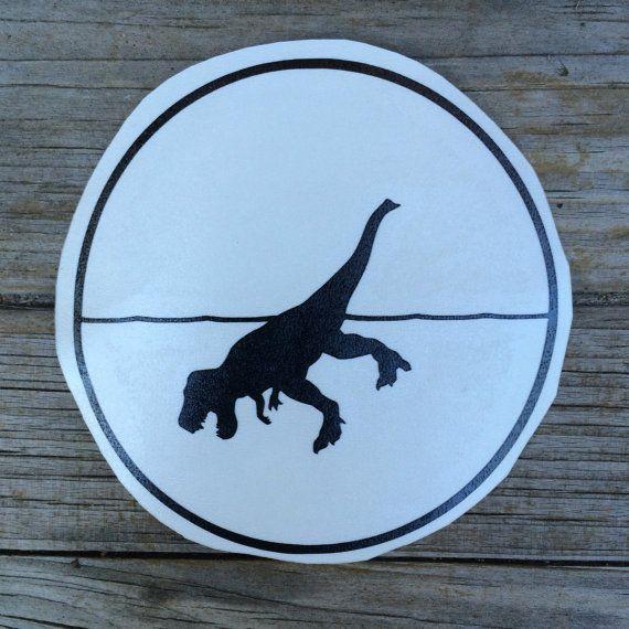 Loch Ness Rex Sticker Car stickers Car Decals by meddlemedia