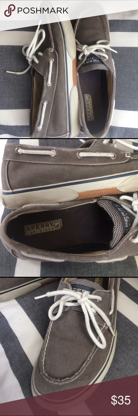 Sperry Top-Sider: Men's Haylard 2-Eye Shoe Chocolate color, men's size 10.5, worn and in good condition, laces in good condition Sperry Top-Sider Shoes Boat Shoes