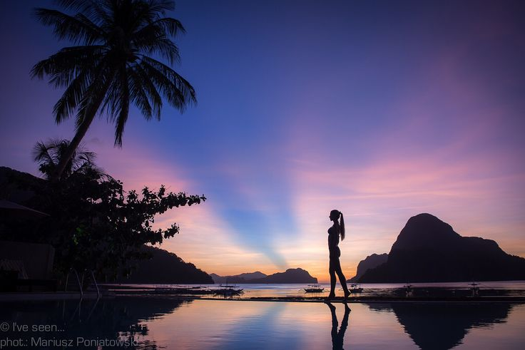 Colourful Sunset in El Nido, Palawan, Philippines