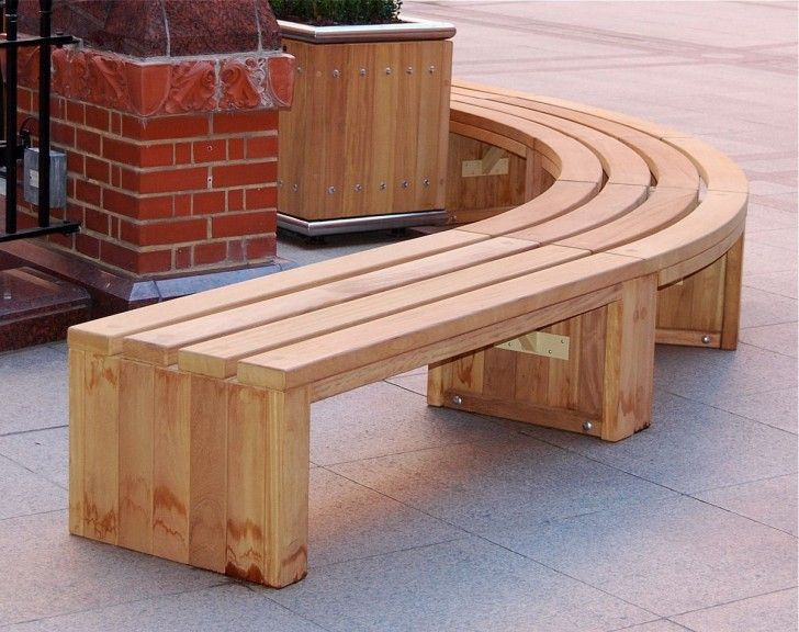 Perfect Furniture Curved Wood Bench For Outdoor Curved Wooden Bench for Garden and Patio