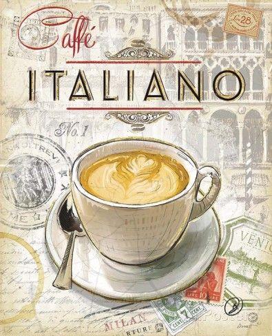 Italienischer Kaffee Kunstdruck