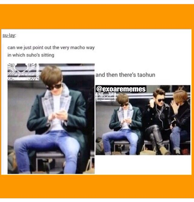 Sometimes Suho is manly like this and then other times hes such a mum