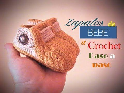 ZAPATOS de bebe a crochet PASO A PASO ( diestro) - YouTube