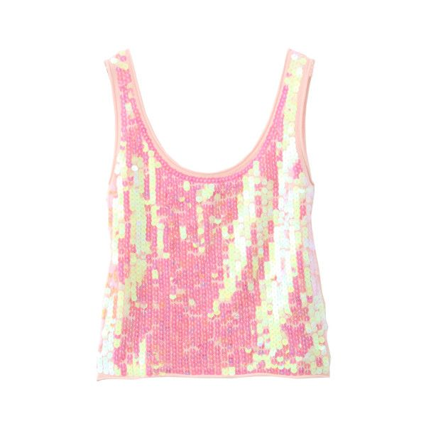 SPANGLE KNIT TANKTOP (2 460 UAH) ❤ liked on Polyvore featuring tops, shirts, tank tops, tanks, women, pink tank, knit tank, pink top, men shirts and henley tank