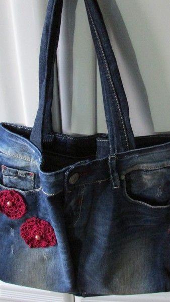 borse in jeans blue di uncinettotuttomatto su DaWanda.com