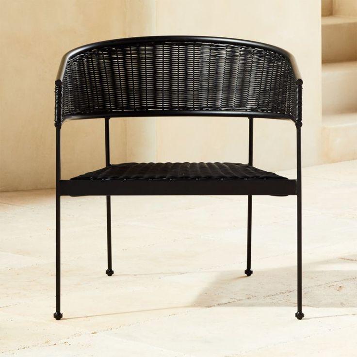 Boomerang Lounge Rattan Tub Chair Black + Reviews CB2 in