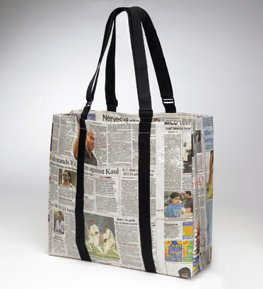Newspaper Bag: Because It Is Free and Eco-Friendly!
