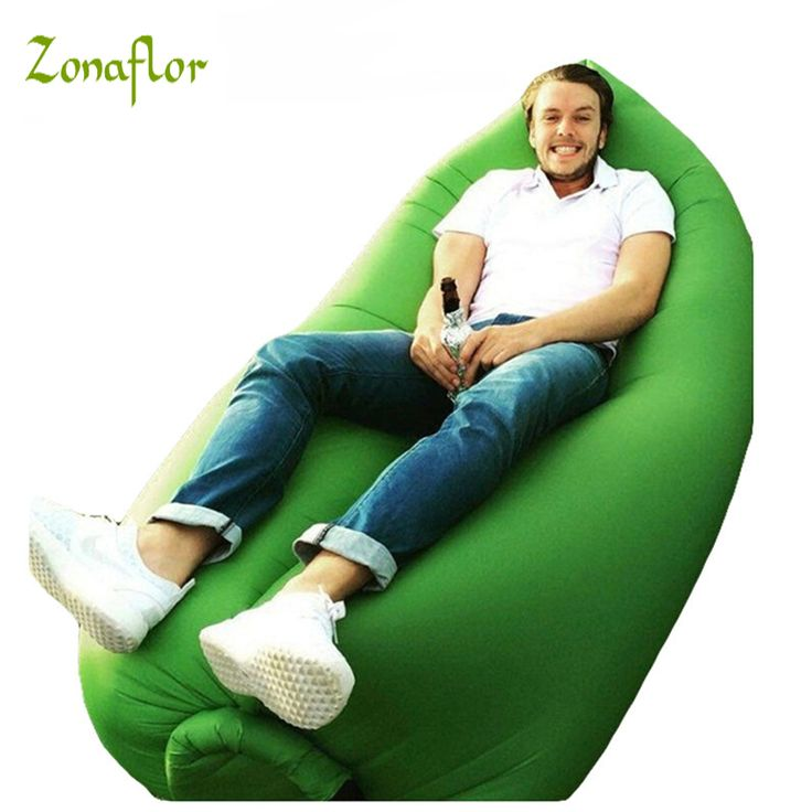 Zonaflor Lazy Inflatable Sofa Outdoor Beach Sleep Bed Home Garden Party Swimming Pool Float Waterproof Folding Inflatable Sofa