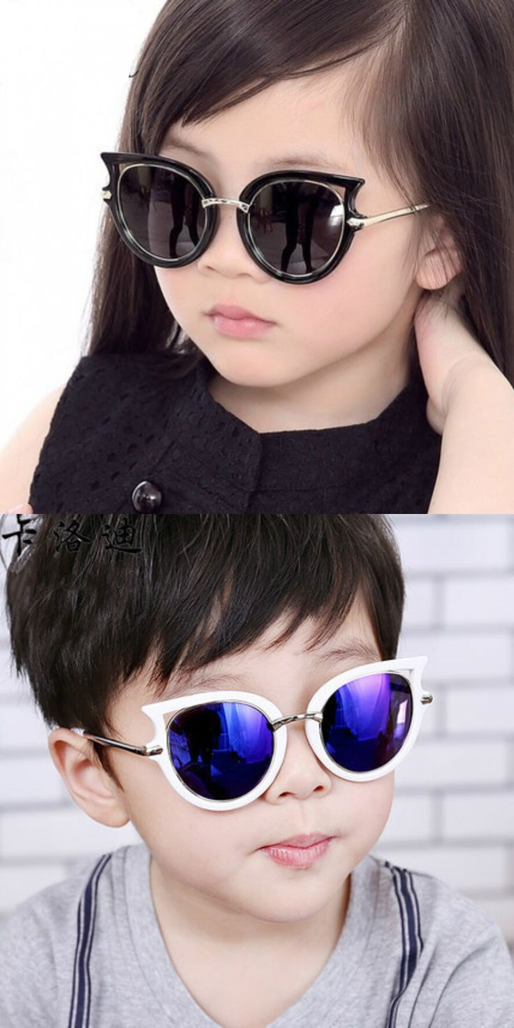 High Quality Cool Uv400 Polarized Kids Sunglasses Girls Boys Suit For 4-12 Ages Children Car Box Free Send Cat Eye Sun Glasses