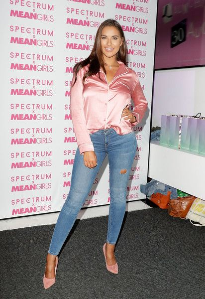 Jessica Shears attends as Spectrum collections launch 'Burn Book', a collection in partnership with Mean Girls and Paramount at Icetank on July 26, 2017 in London, England.
