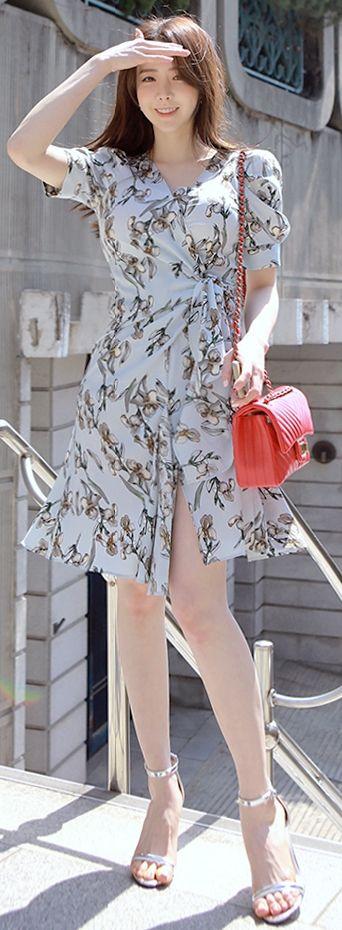 Korean Fashion Online Trend 韓流 Store Luxe Asian Women 韓国 Style Clothes Shop Freesia Dress