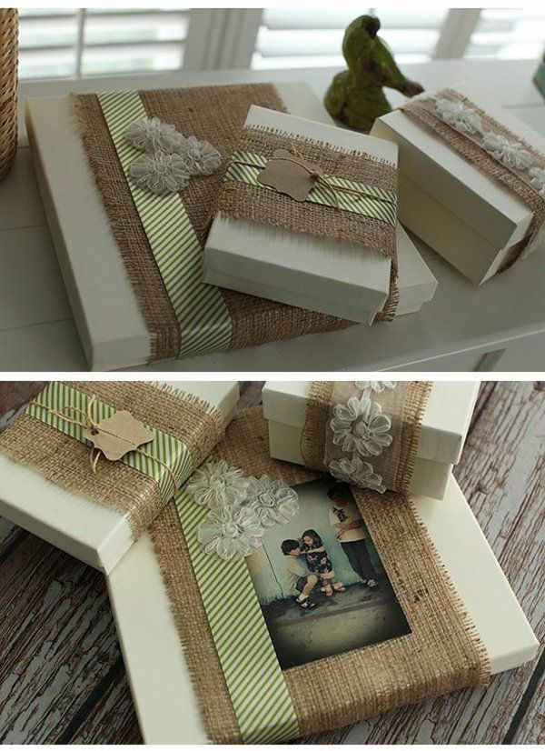 Emballage cadeau original et rustique