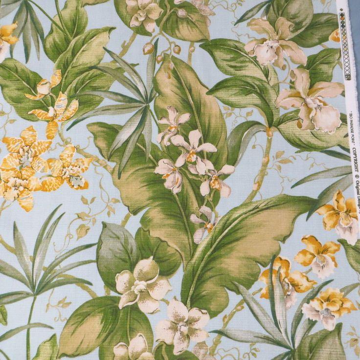 Hawaiian Print Fabric Tommy Bahama TBO Paradise Point BTY Upholstery Decorator