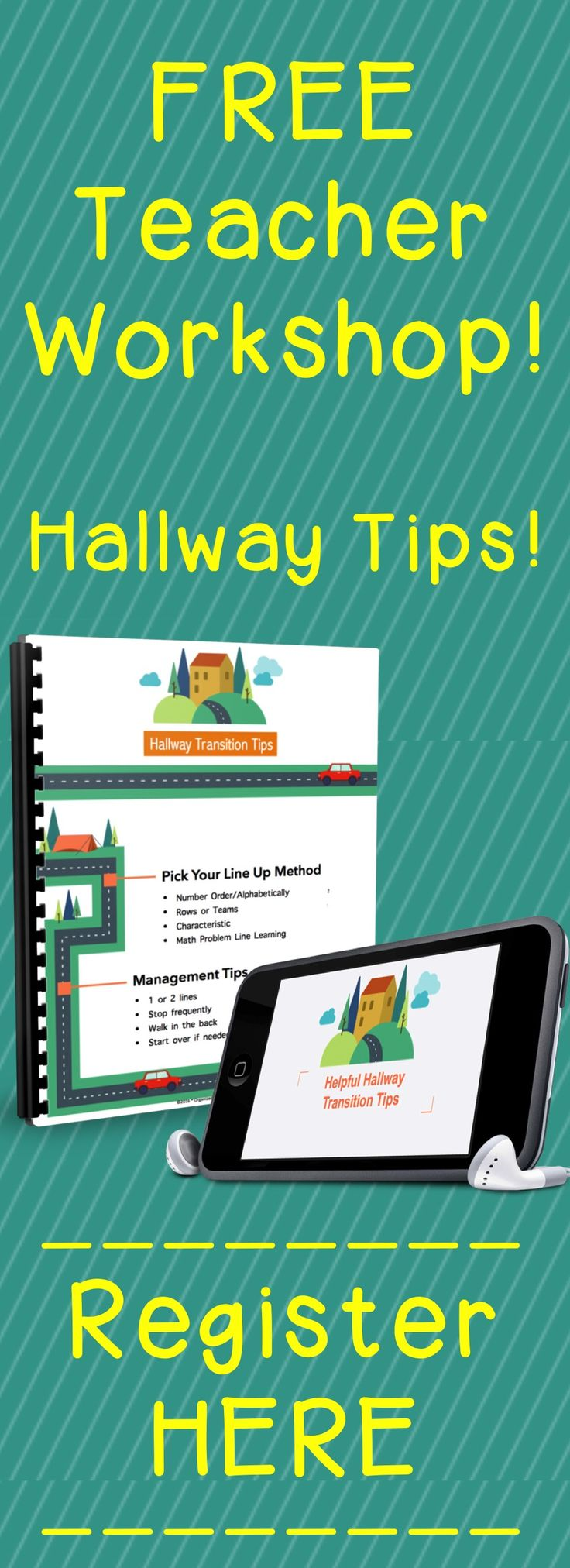 Brand new FREE teacher workshop: Helpful Hallway Transition Tips! This 20-minute presentation will give you some ideas for the best ways to line up students, management suggestions while in the hallway, and even 10 activities while walking and/or waiting quietly. Includes a free Cheat Sheet to download and take too! Click the pin to register now!