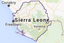 Harta pentru Sierra Leone
