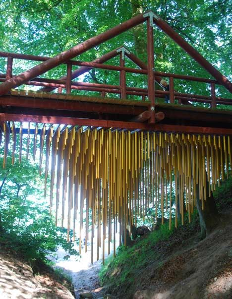 Wind chimes under bridge (Chimecco by Mark Nixon)