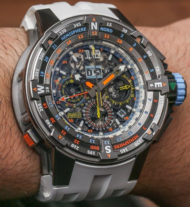 "Richard Mille​ RM 60-01 Automatic Flyback Chronograph Regatta ""Les Voiles de Saint-Barth​"" 2015 Limited Edition Watch Hands-On - by Ariel Adams - read more, see all the colorful photos ""For 2015, on the Caribbean Island of St. Barthélemy, the Richard Mille RM 60-01 Automatic Flyback Chronograph Regatta 'Les Voiles de St. Barth' limited edition watch becomes the latest equatorial treat from Switzerland's highest-end modern sport watch."