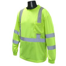 Radians Hi Vis Green Long Sleeve T-shirt with Max-Dri™ Class 3 ST21-3PGS | Hi Vis Safety Direct will beat any other price , we are #1 in Hi Visibility Items .