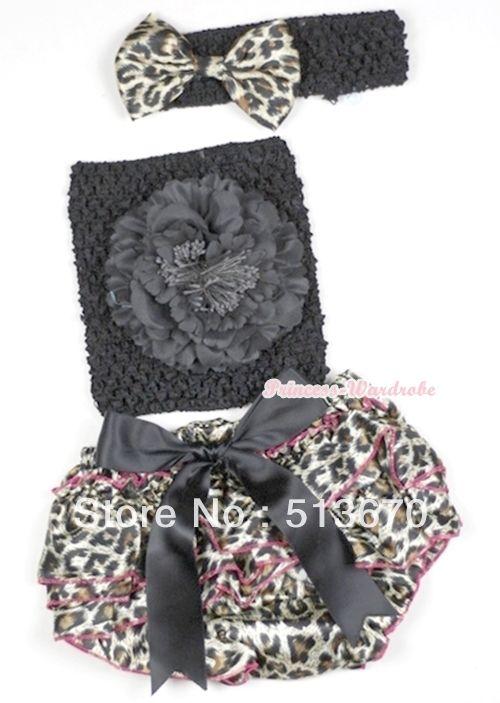 Черный большой с бантом ярко розовый леопард атласная трусики промах с черный пион черный крючком 3 шт. комплект MACT528