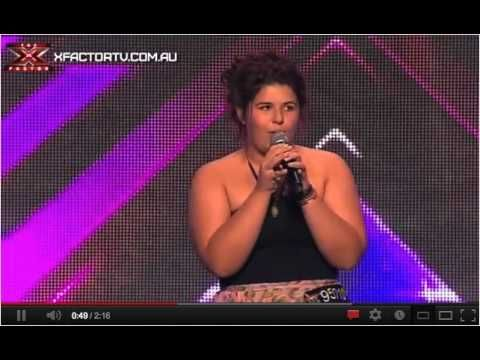Shiane Hawke Auditions for X Factor Australia Singing Mercy By Duffy For Judges Ronan Keating, Guy Sebastian, Mel B (Brown) and Natalie Bassingthwaighte (Nat Bass, Nat Bas, Natalie Bass)