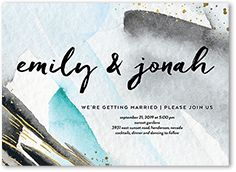 Artistic Wedding Paper Divas Invitations
