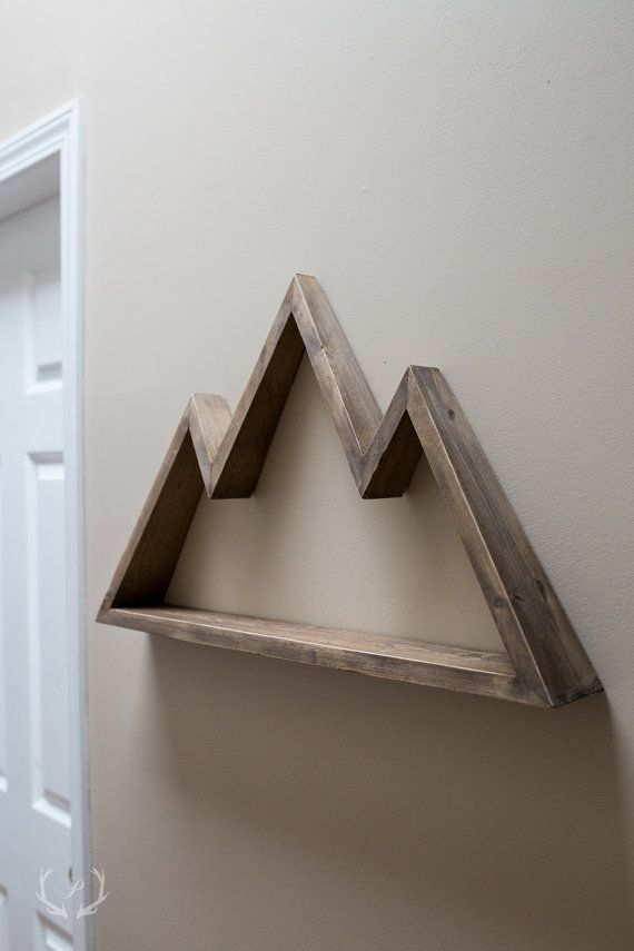 25 best ideas about wood shelf on pinterest hunting for Diy mountain mural
