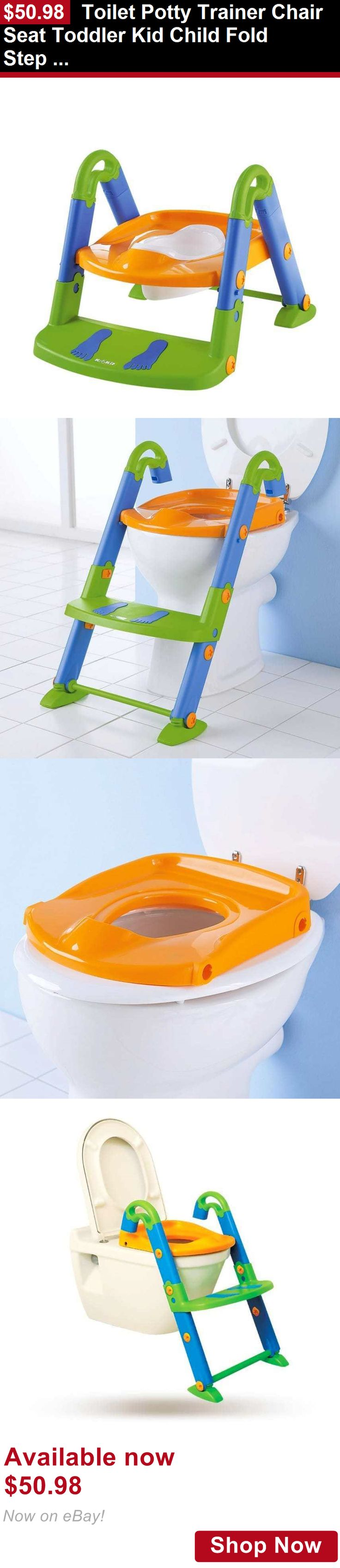 Potty Training: Toilet Potty Trainer Chair Seat Toddler Kid Child Fold Step Up Ladder Padded BUY IT NOW ONLY: $50.98