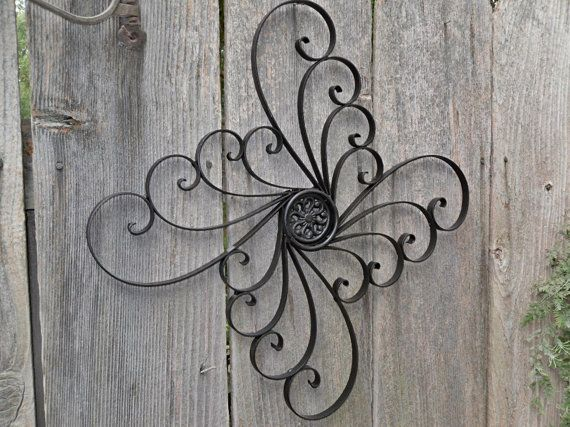 Black Metal Wall Decor / Wrought Iron Wall Hanging / Home