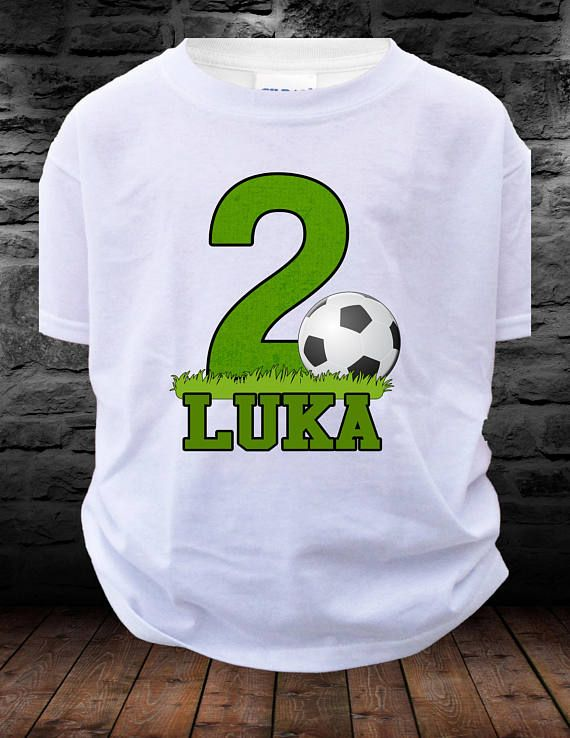 77e7229b872 Big Number SOCCER Birthday Shirt boy or girl T-shirt Soccer personalized  Shirt with age name 1,2,3,4,5,6,7,8,9 - Soccer shirt - sports shirt