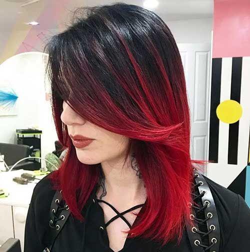 33 Mechas Vermelhas no Cabelo + Tutorial pra fazer sozinha! | Red ombre hair, Best ombre hair, Hair styles