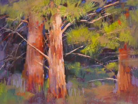 Why I Never Throw Away Pastel Paper, painting by artist Karen Margulis