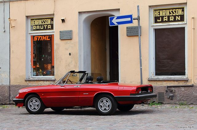 Alfa Romeo Spider #AlfaRomeo #Alfa #italiandesign