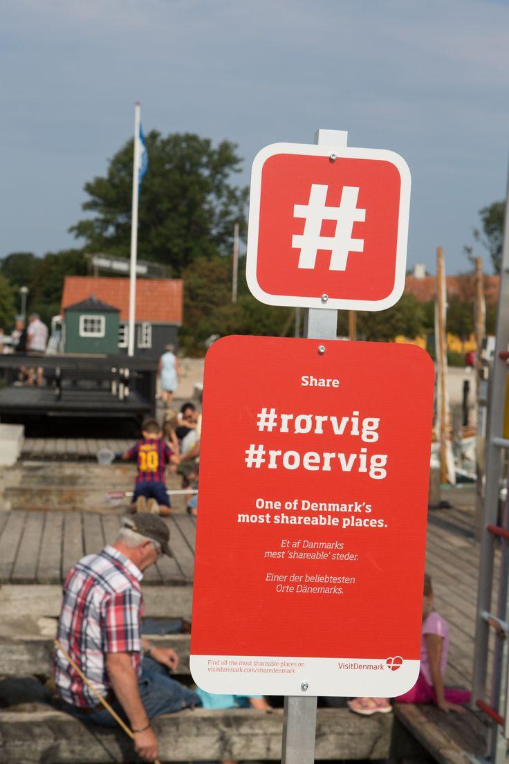 Nye shareskilte på Rørvig havn
