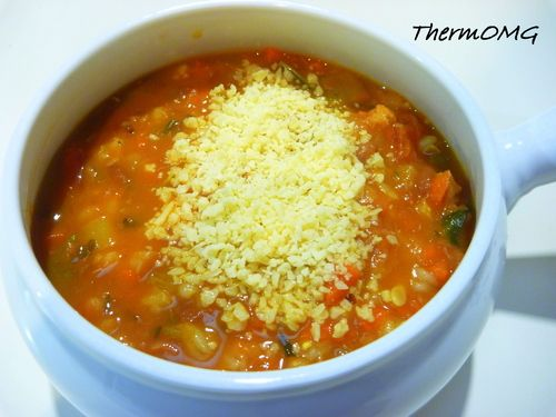Quick Minestrone Barley Soup — replace barley with brown rice = GF.