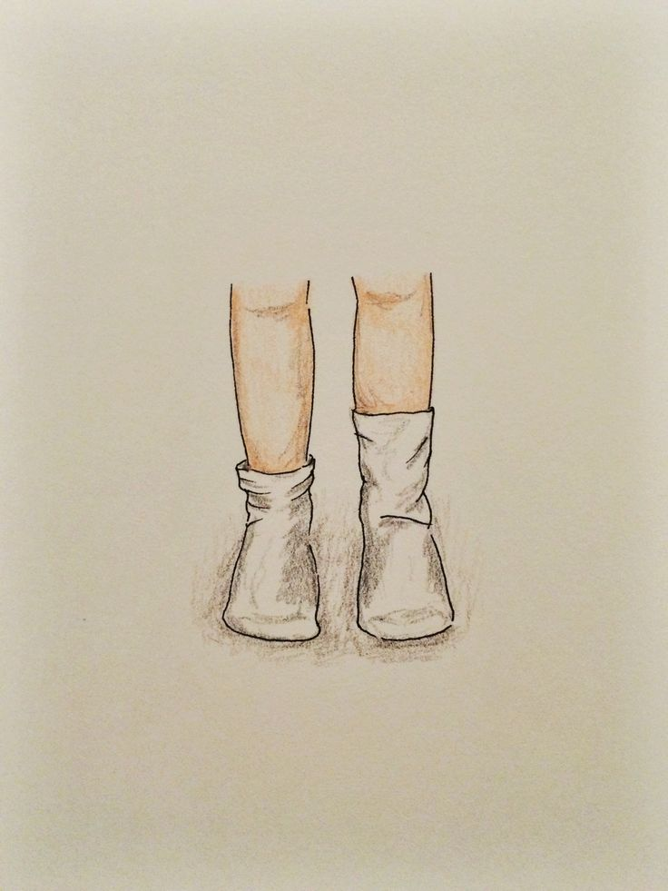 Little feet in little socks