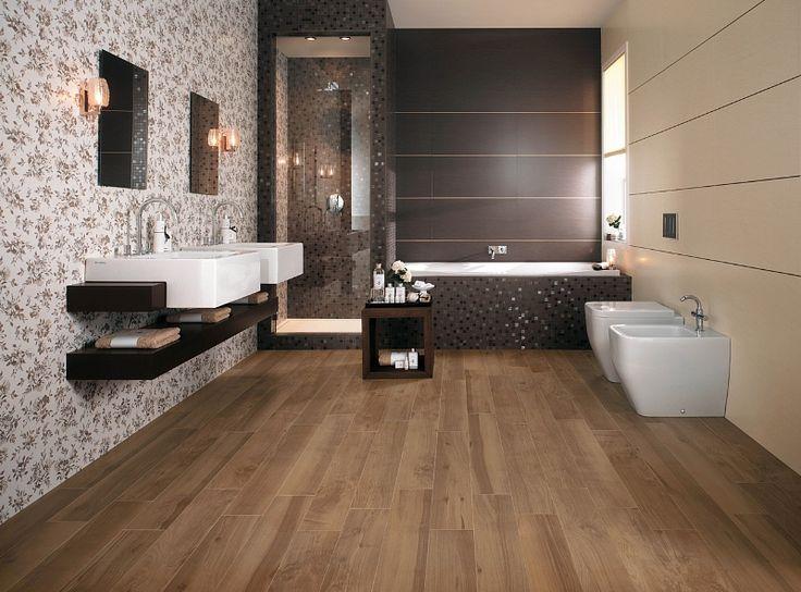 bagno con pavimento effetto legno cerca con google
