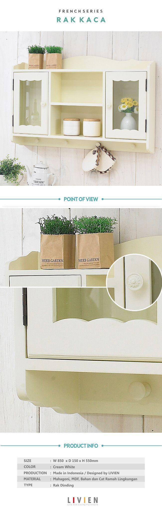 Rak Kaca French Series  #homedecor #kitchenroom #homeideas #interiorideas #furniture